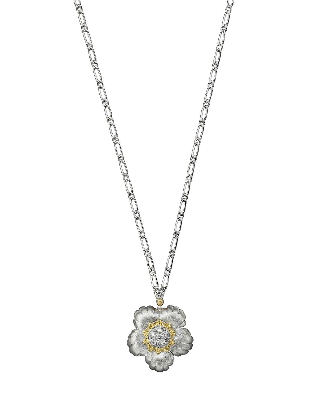 Two-Tone Gold Daphne Pendant Necklace