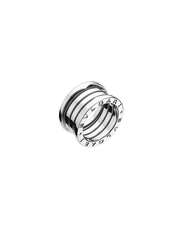B.Zero1 18k White Gold 4-Band Ring