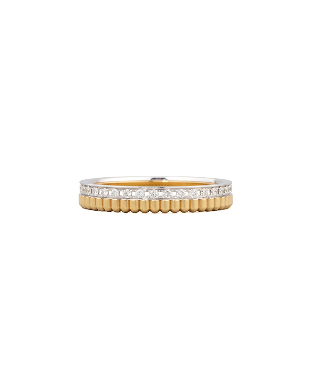 Quatre Follies 18k Yellow/White Gold Diamond Band Ring