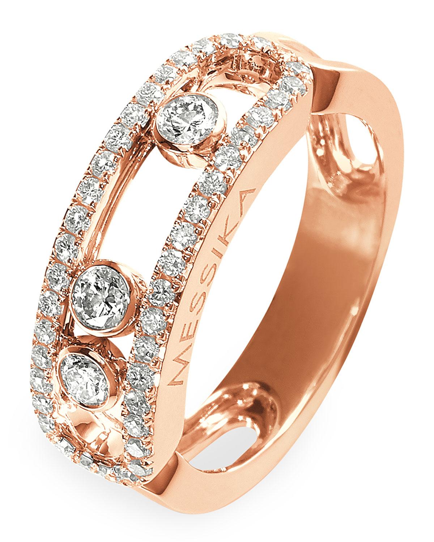 Move 18k Rose Gold Diamond Pave Ring