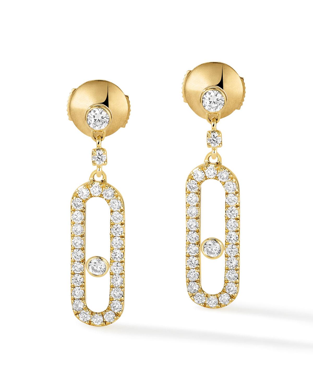 Move Uno 18k Yellow Gold Diamond Hoop Earrings