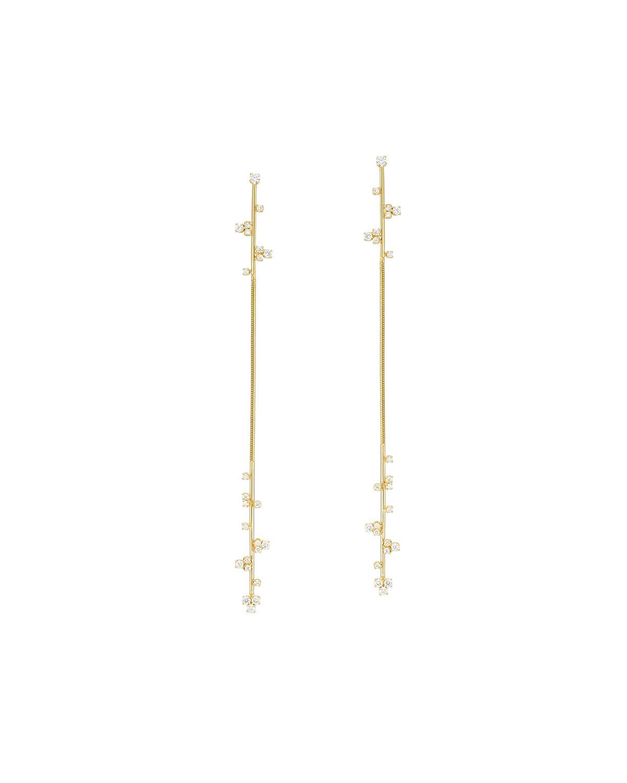 Long Line Snake Chain Earrings
