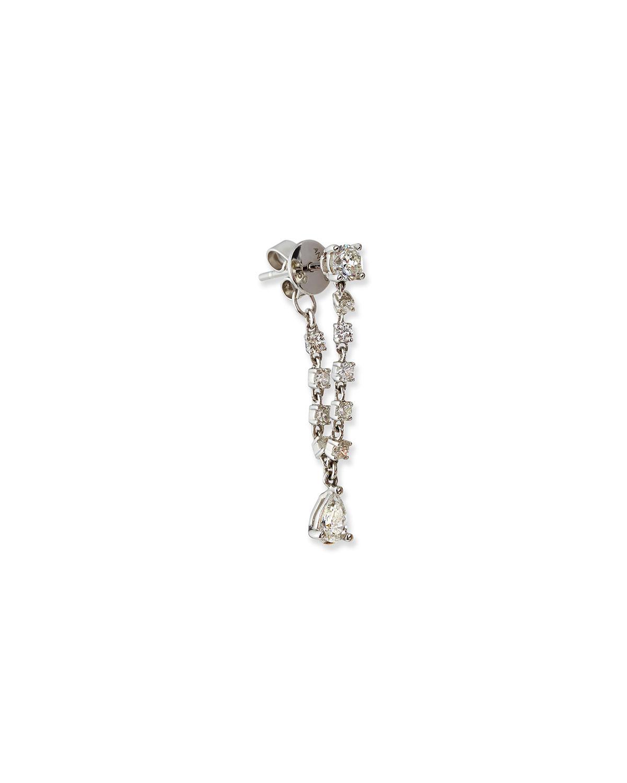 Olivia 18k White Gold Pear Diamond Loop Earring