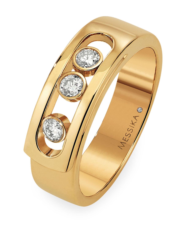 Move 18k Yellow Gold 3-Diamond Ring