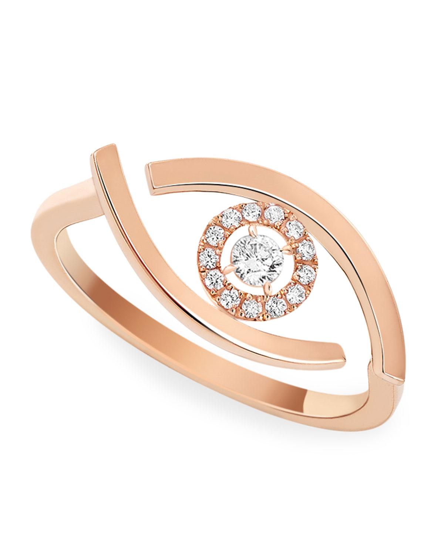 Lucky Eye 18k Pink Gold Diamond Ring