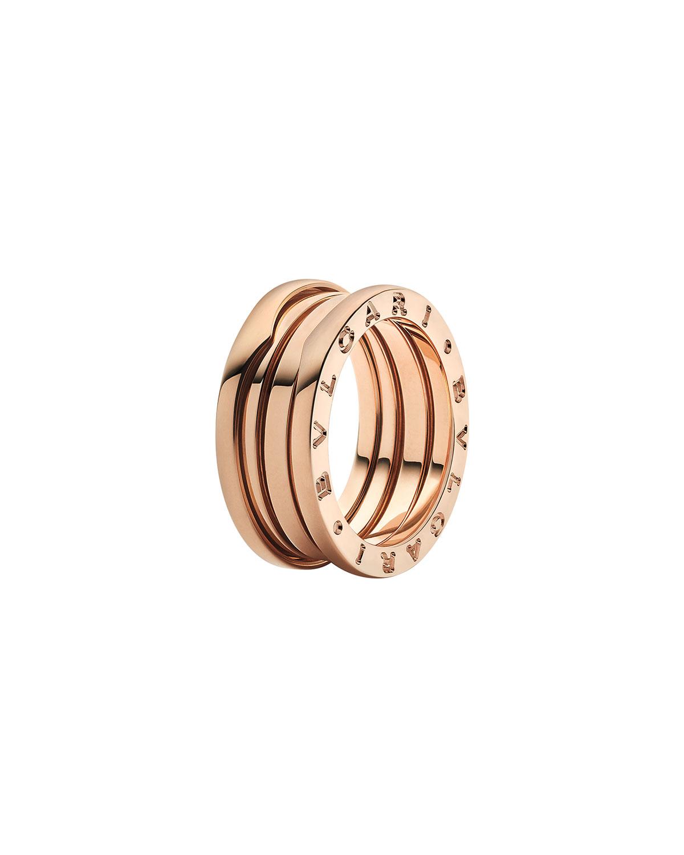 B.Zero1 18k Rose Gold 3-Band Ring