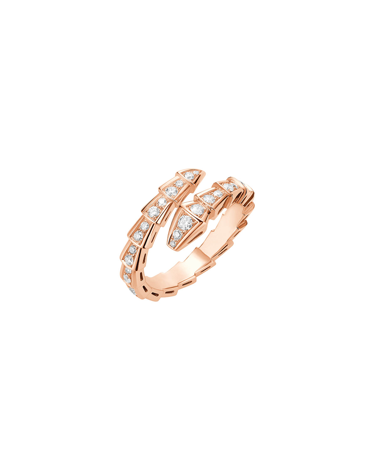 Serpenti Ring in 18k Rose Gold and Diamonds