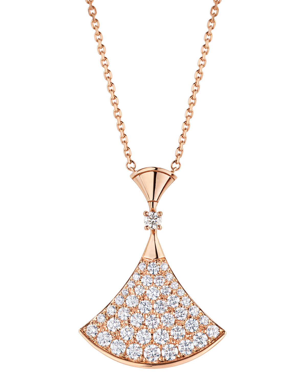 Divas' Dream Diamond Pendant Necklace in 18k Rose Gold