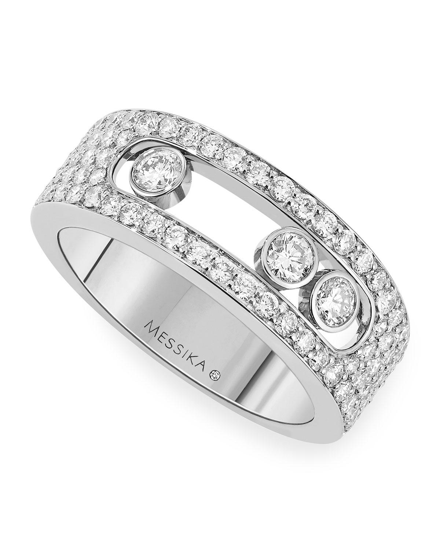 Move Joaillerie 18k White Gold Diamond Ring