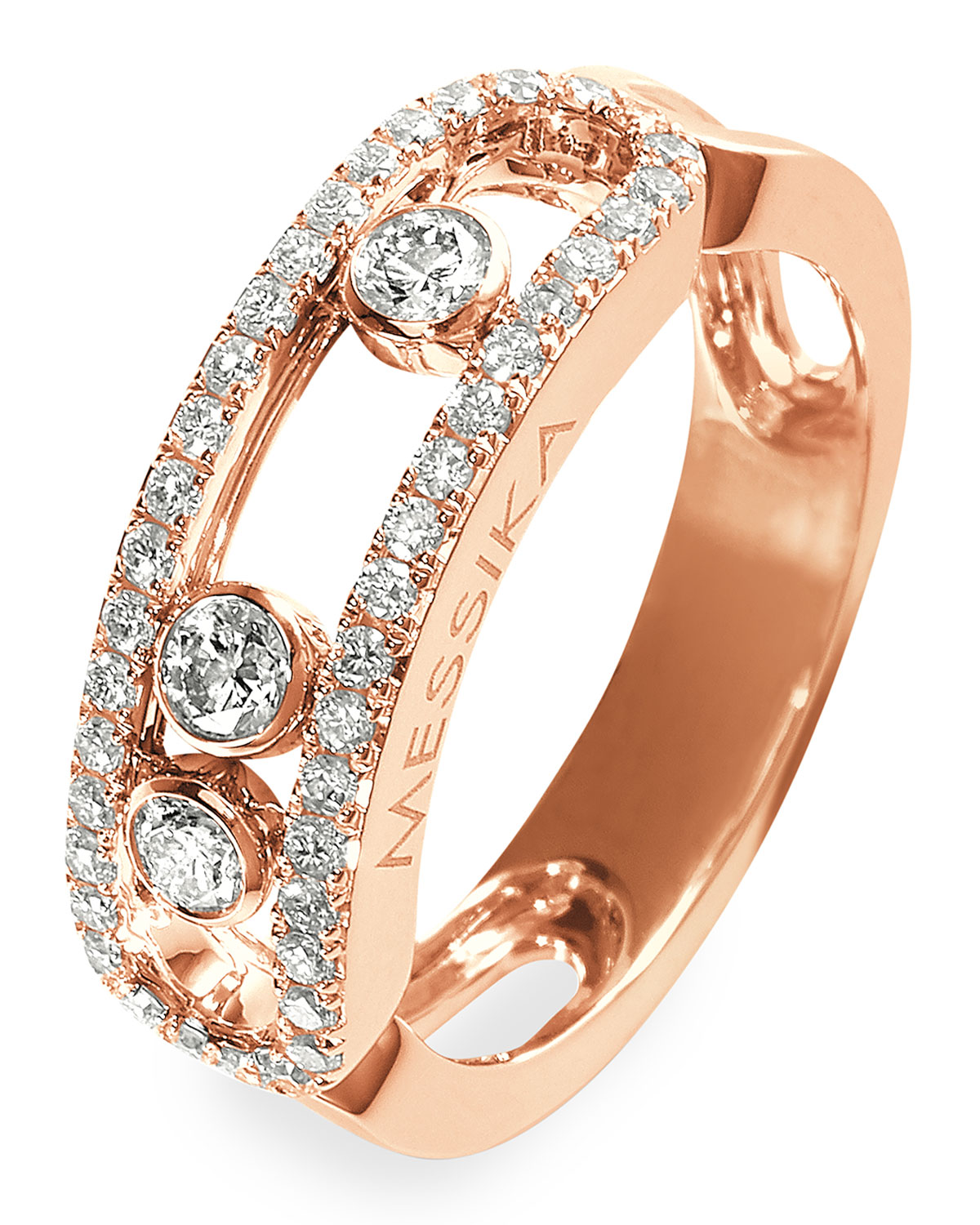 Move 18k Rose Gold Pave Ring