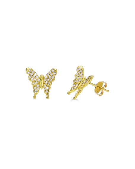 Tanya Farah Garden of Eden Diamond Butterfly Earrings