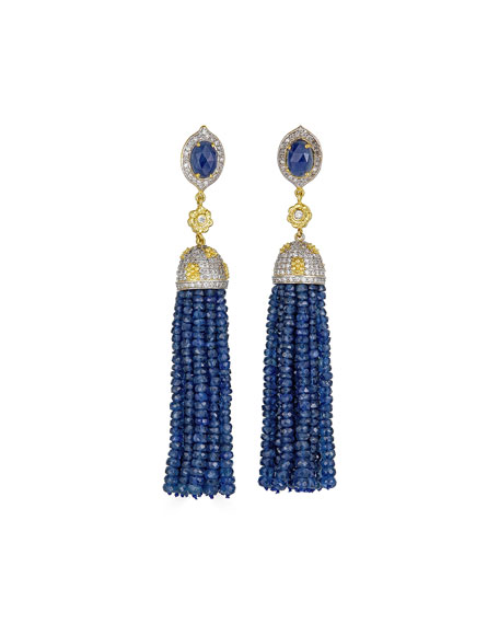Tanya Farah 18k Yellow Gold Marie Antoinette Tassel Earrings