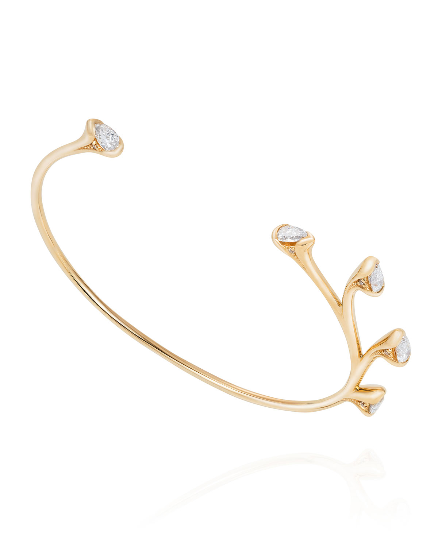 Sprouting 5-Diamond Bracelet in 18k Yellow Gold
