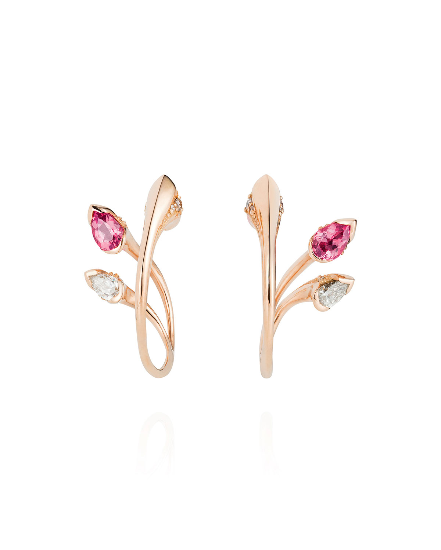 Sepals Hoop Earrings