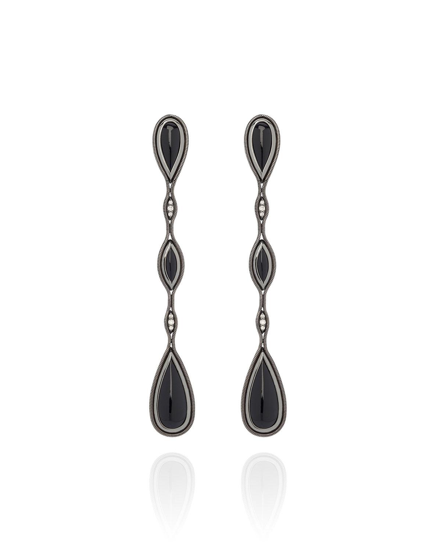Fluid Diamond and Stone Earrings