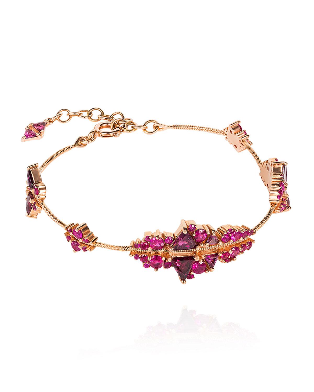 18k Rose Gold Ruby Fusion Bracelet