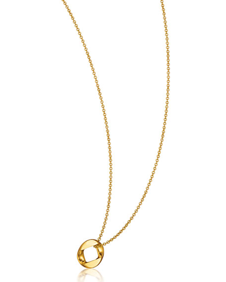 "Verdura 18k Yellow Gold Curb Link Pendant Necklace, 18""L"