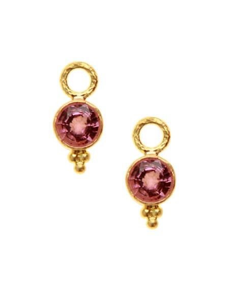 Elizabeth Locke 19k Pink Spinel Earring Charms
