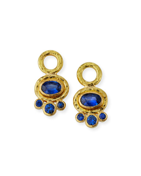 Elizabeth Locke 19k Blue Sapphire Earring Pendants