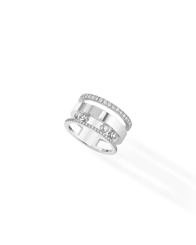 Move Romane Large Diamond Ring in 18k White Gold