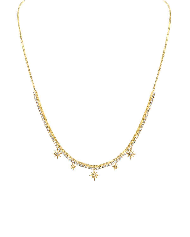 18k Diamond Starburst Choker Necklace