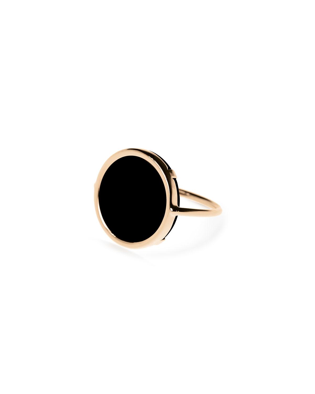Black Onyx Disc Ring