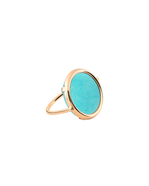 Amazonite Disc Ring