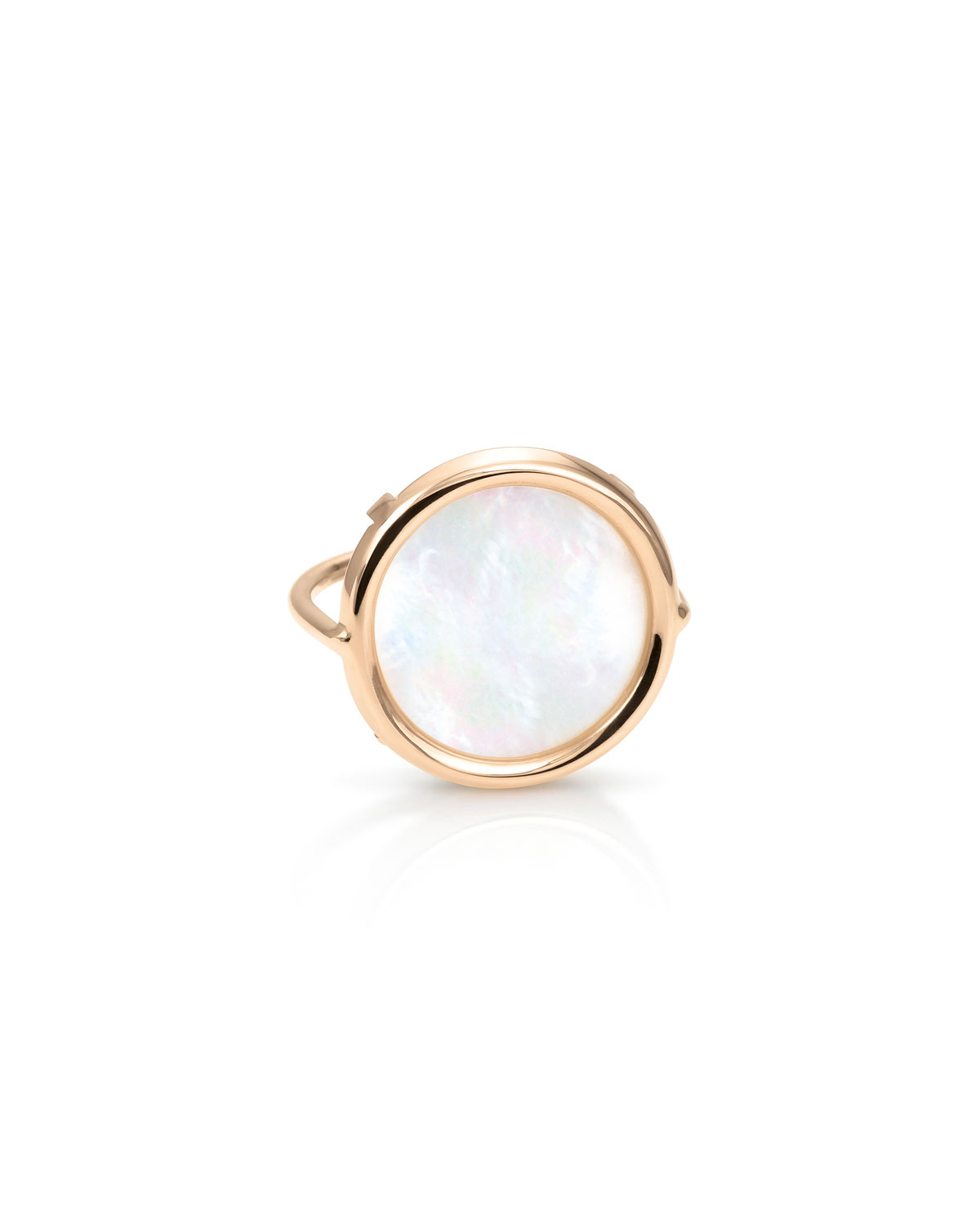 Mother-of-Pearl Disc Ring