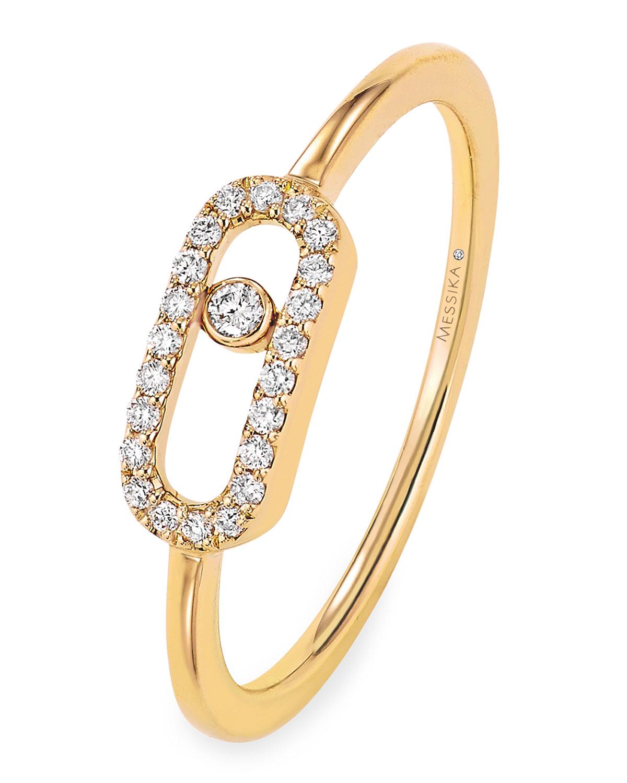 Move Uno Diamond Ring in 18k Yellow Gold