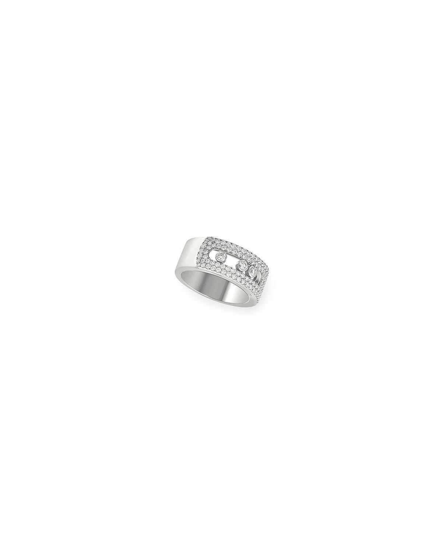 Move Noa 18k White Gold Pave Diamond Large Ring