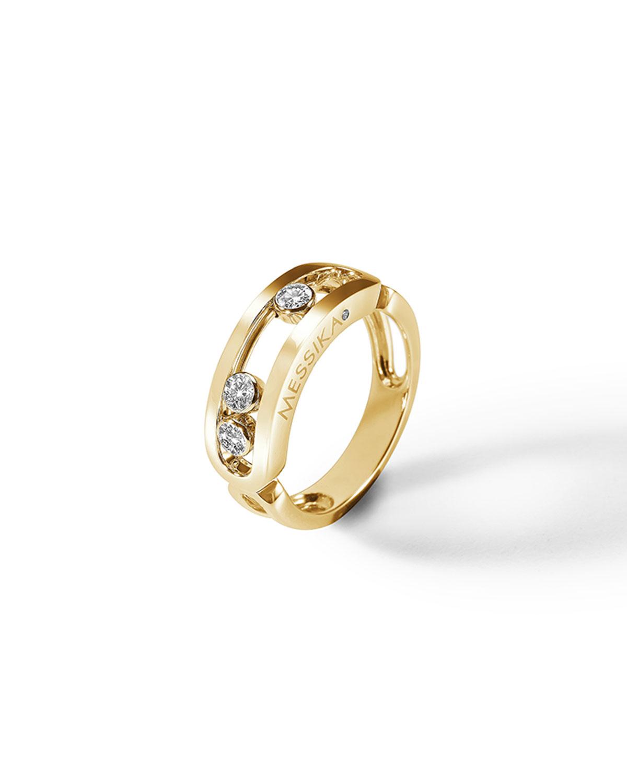 Move Diamond Ring in 18k Yellow Gold