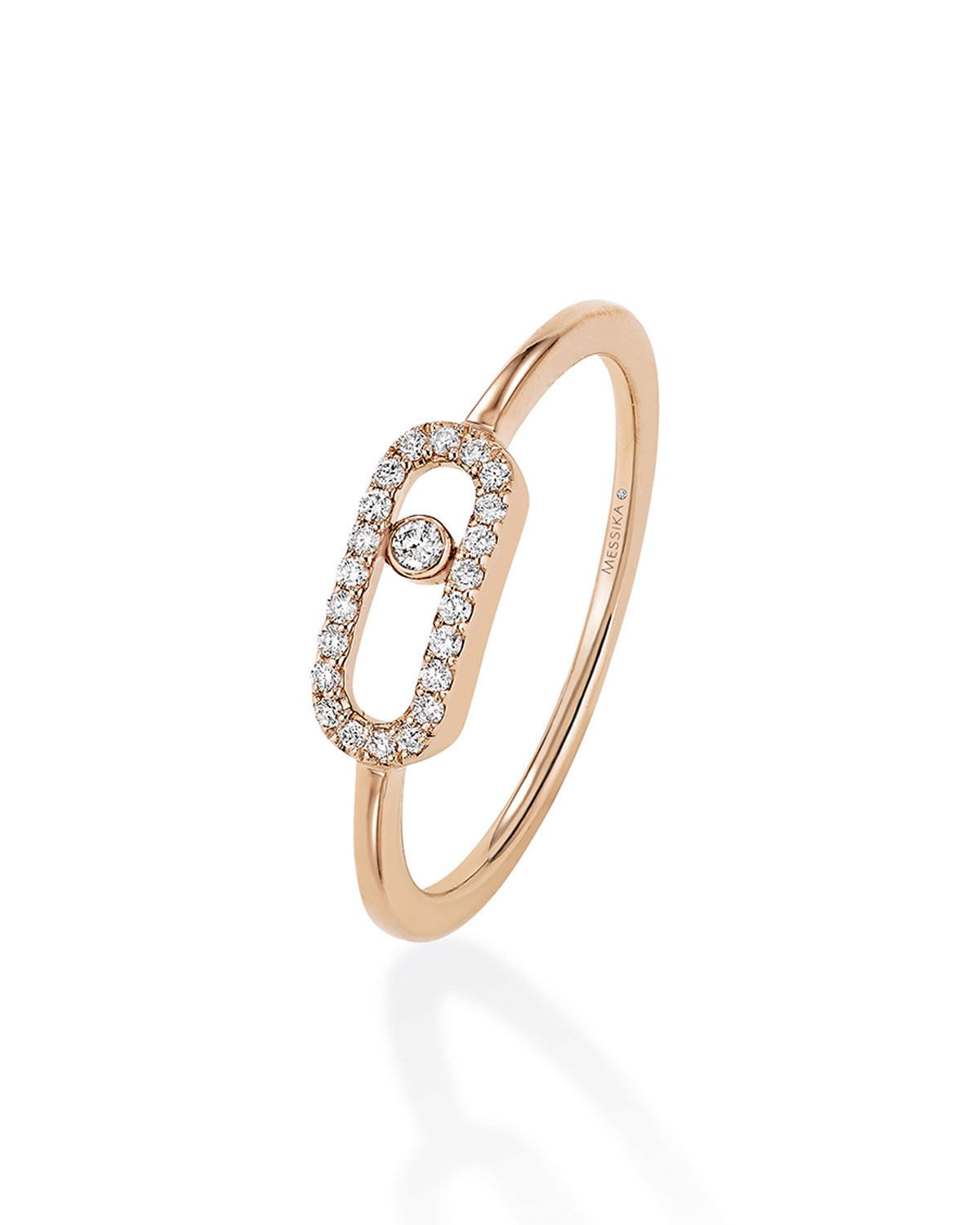 Move Uno Diamond Ring in 18k Pink Gold