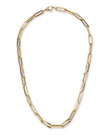 "Kastel Jewelry 14k Medium Link La Seta Necklace, 16""L"