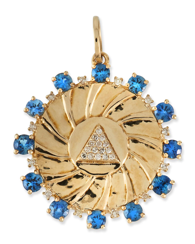 Pave Diamond Pyramid Amulet