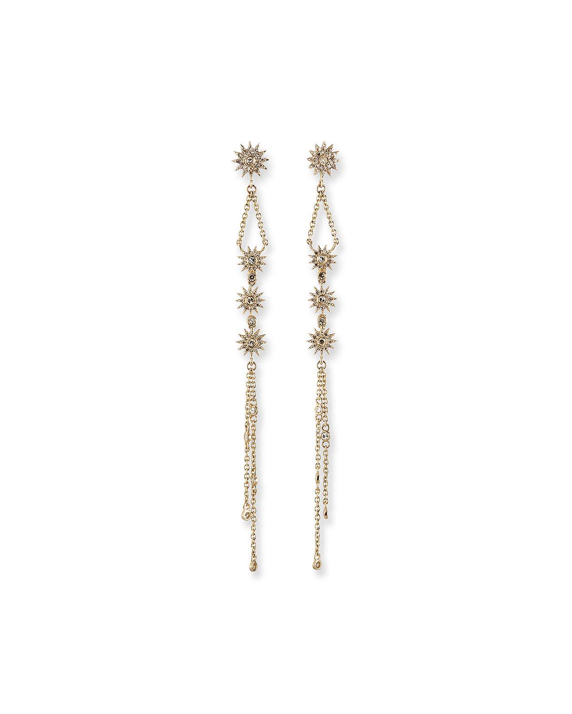 Siren 14k Gold Fringe Duster Star Earrings