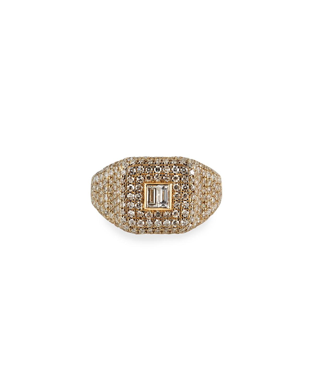 14k Uptown Diamond Pinky Ring