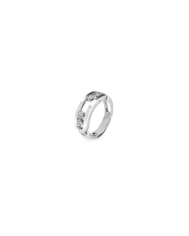 Move Diamond Ring in White Gold