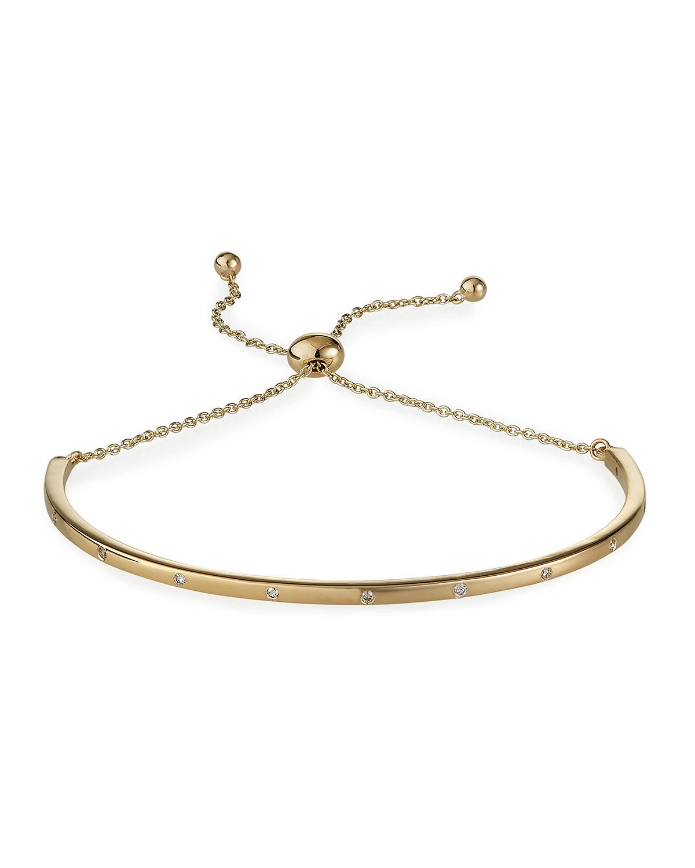 14k Diamond Adjustable Bangle Bracelet