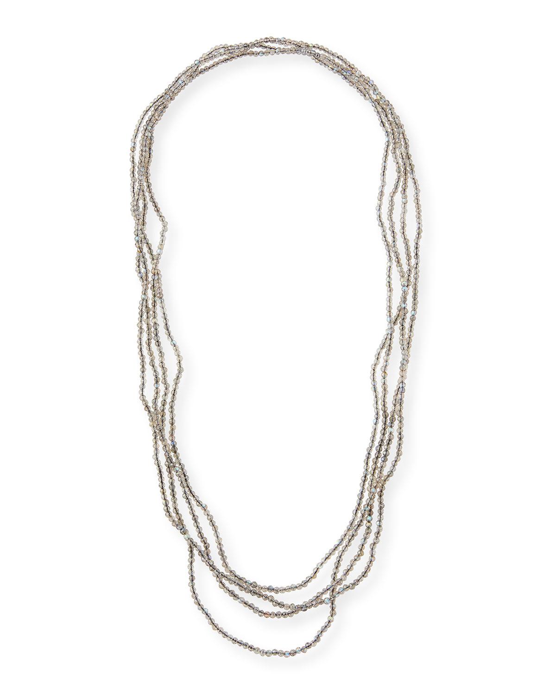 Infinity Extra-Long Labradorite Necklace