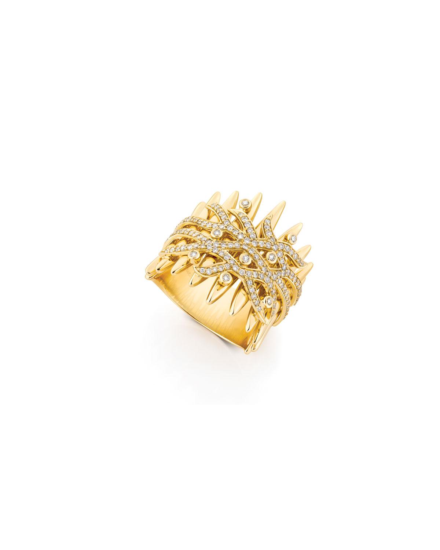 Tribal 18k Gold Diamond Ring