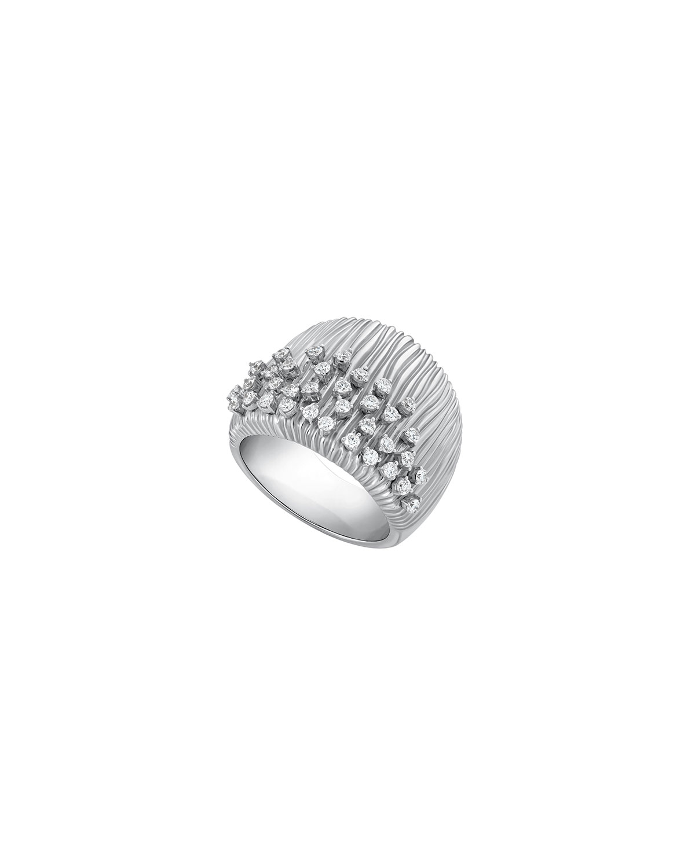 Bahia 18k White Gold Diamond Half-Band Ring