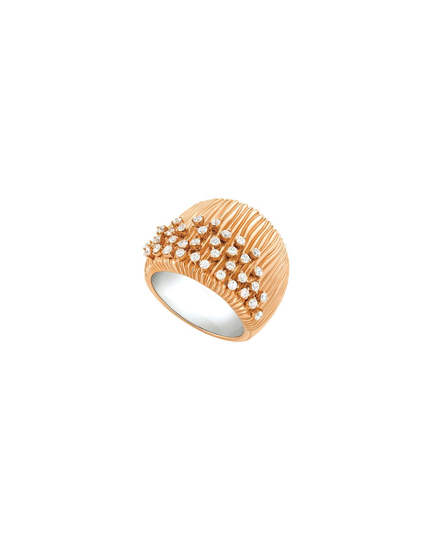 Bahia 18k Pink Gold Diamond Half-Band Ring