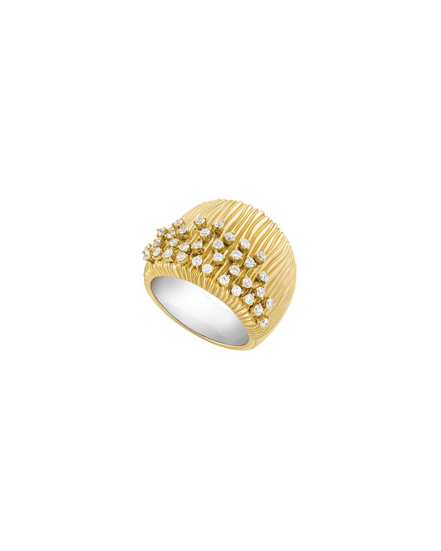 Bahia 18k Gold Diamond Half-Band Ring