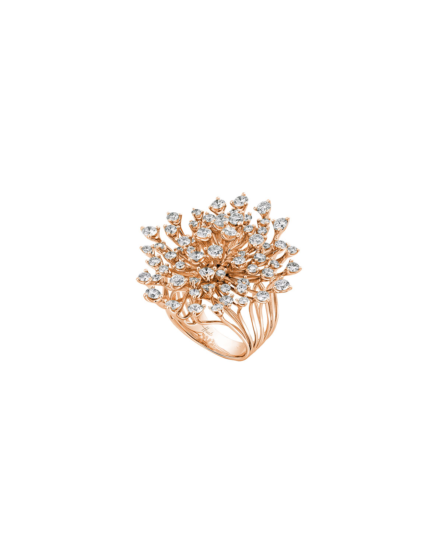 Luminus 18k Pink Gold Diamond Cluster Ring