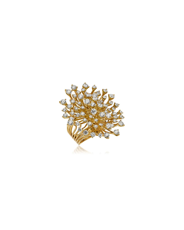 Luminus 18k Yellow Gold Diamond Cluster Ring