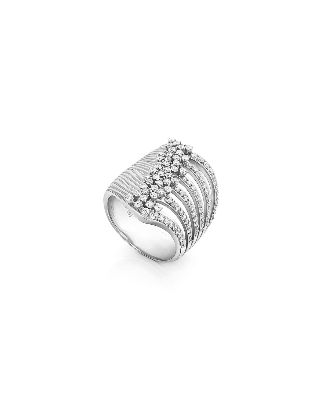 Bahia 18k White Gold Diamond Stacked Ring