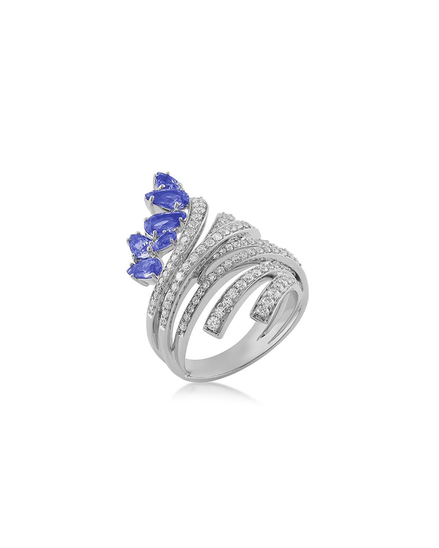 Mirage 18k White Gold Tanzanite and Diamond Ring