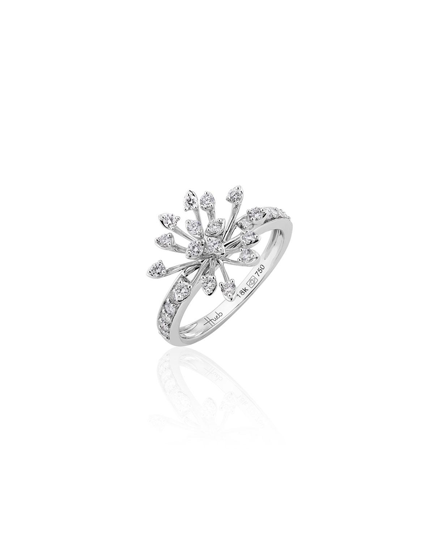 Luminus 18k White Gold Diamond Stemmed Ring
