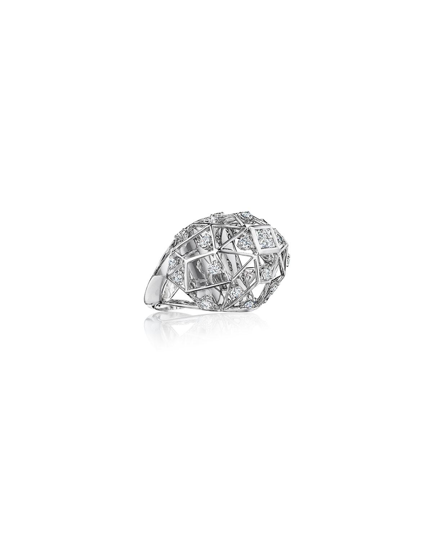 Estelar 18k White Gold Diamond Geometric Ring