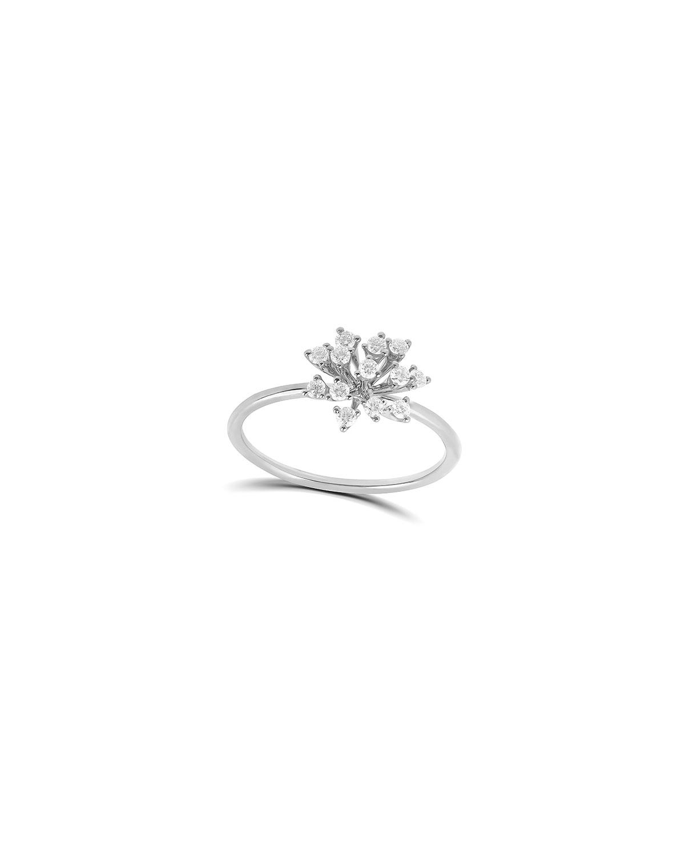 Luminus 18k White Gold Diamond Small Stemmed Ring